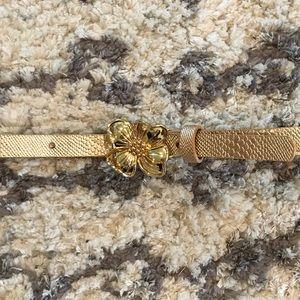 Lilly Pulitzer Gold Floral Belt